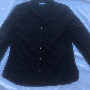 Black button up Calvin Klein shirt